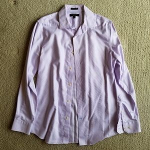 Banana Republic- Purple Pinpoint Oxford Cloth